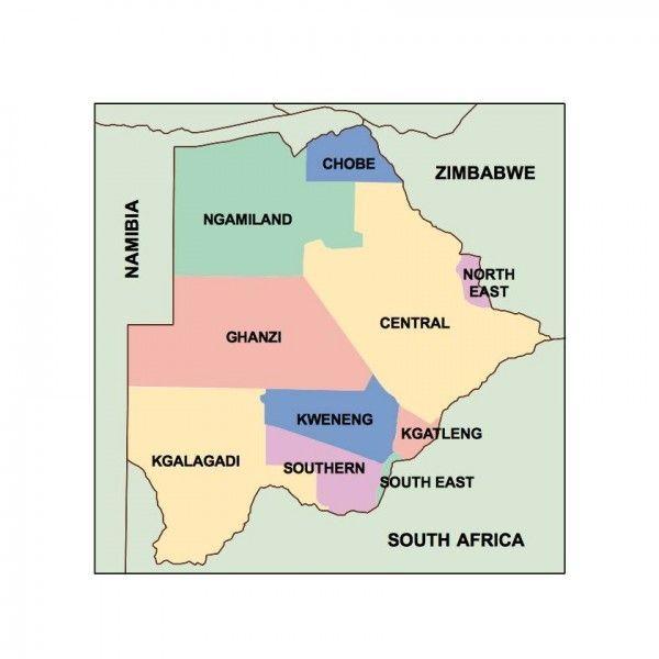 botswana presentation map