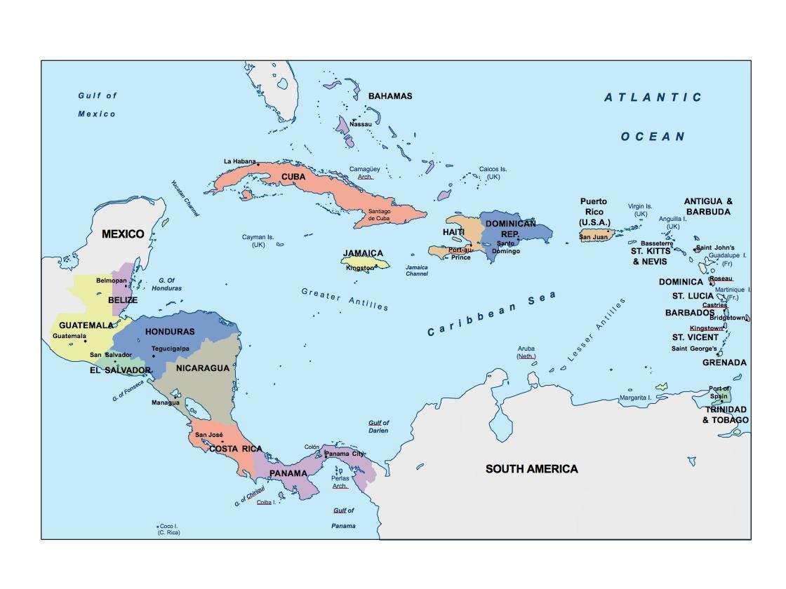 central america presentation map   Digital Maps. Netmaps UK Vector on