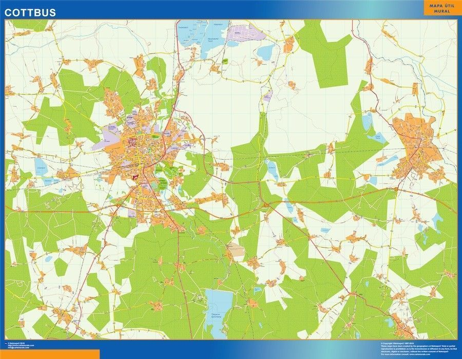 cottbus wall map
