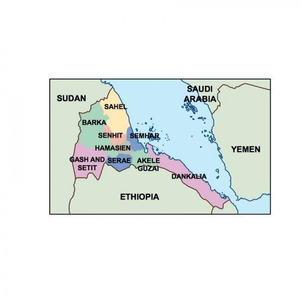 eritrea presentation map