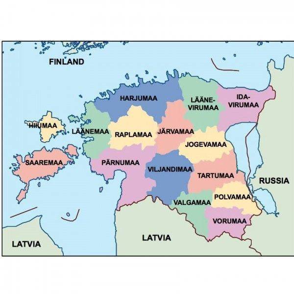 estonia presentation map