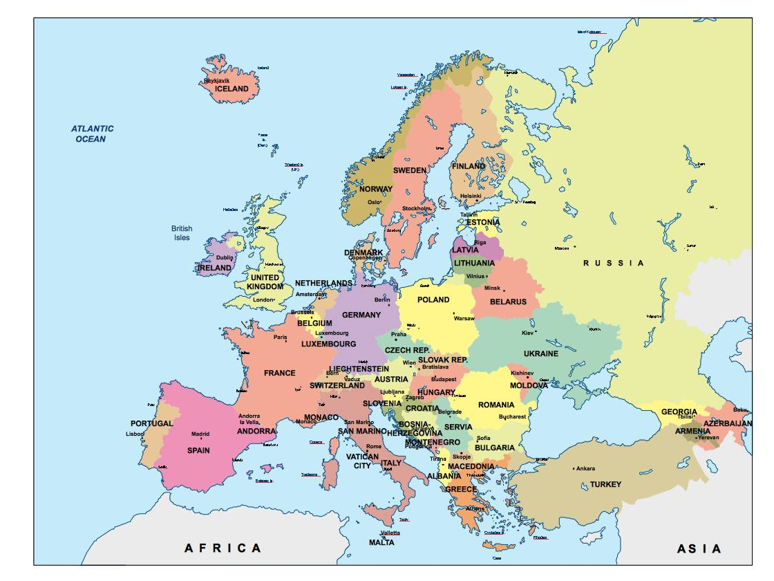 Map Of Uk For Powerpoint.Europe Presentation Map