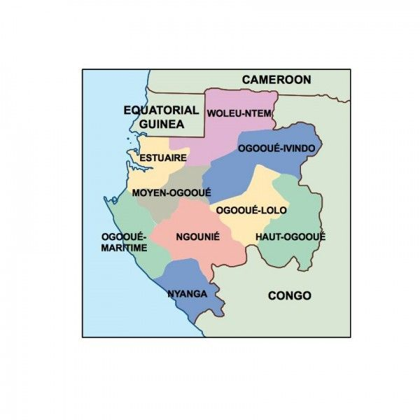 gabon presentation map