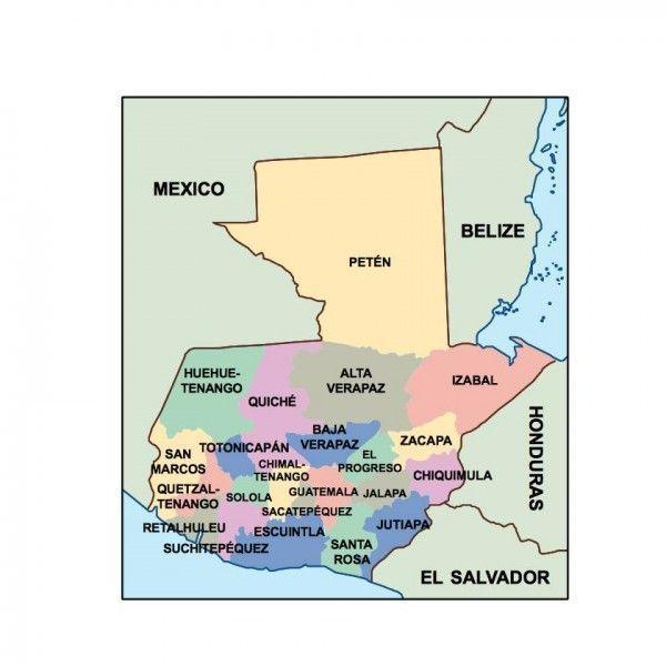 guatemala presentation map
