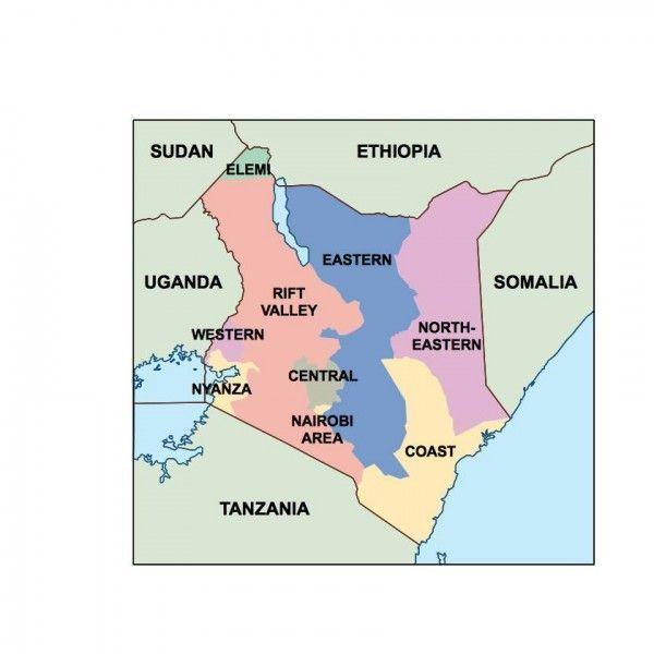 kenya presentation map