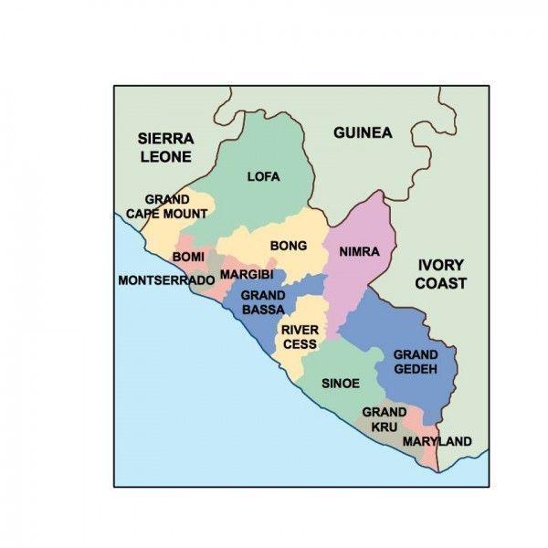 liberia presentation map