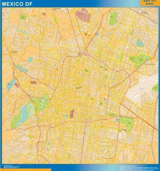 mapa Mexico df centro