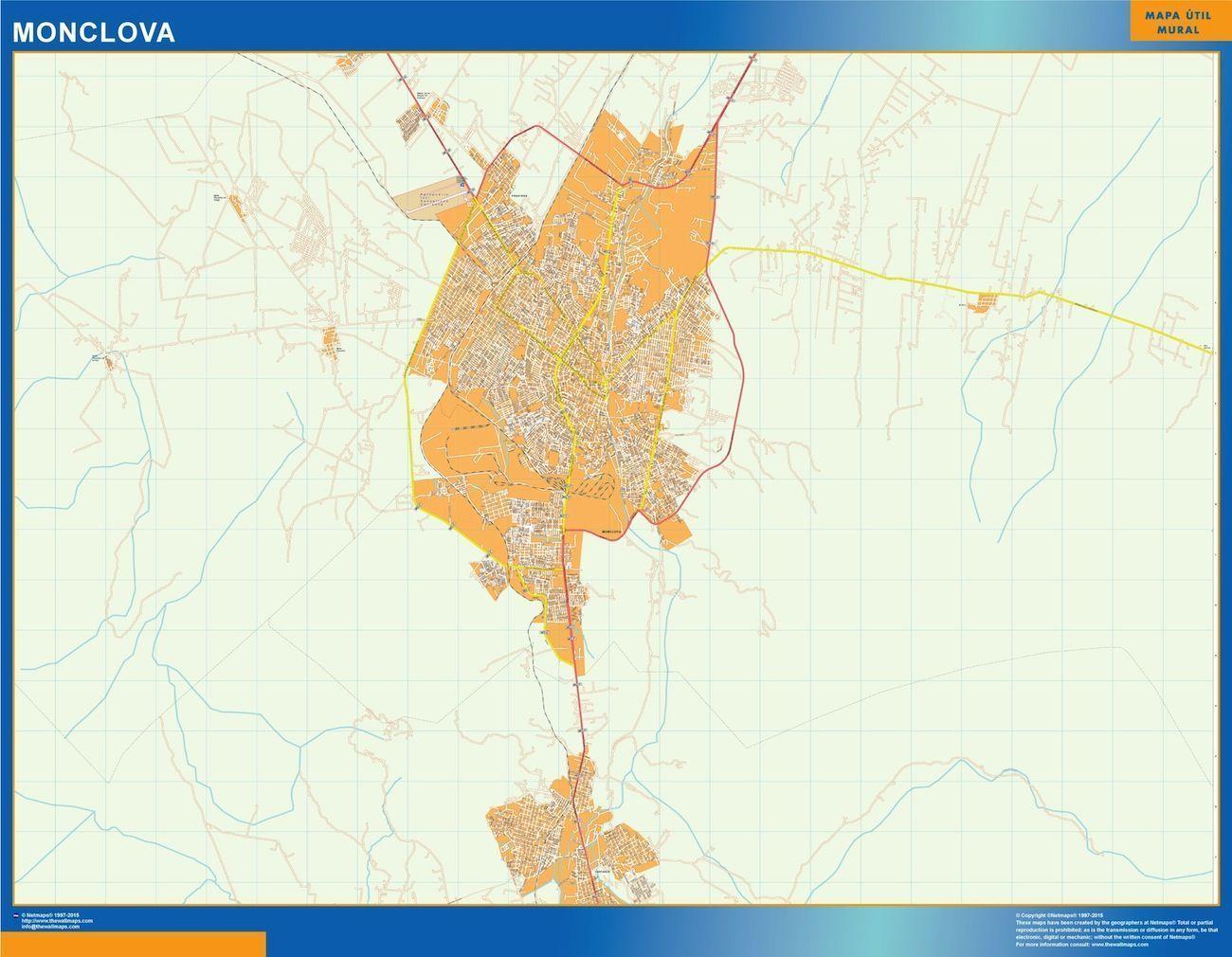 Monclova Mexico Map.Mapa Monclova Digital Maps Netmaps Uk Vector Eps Wall Maps