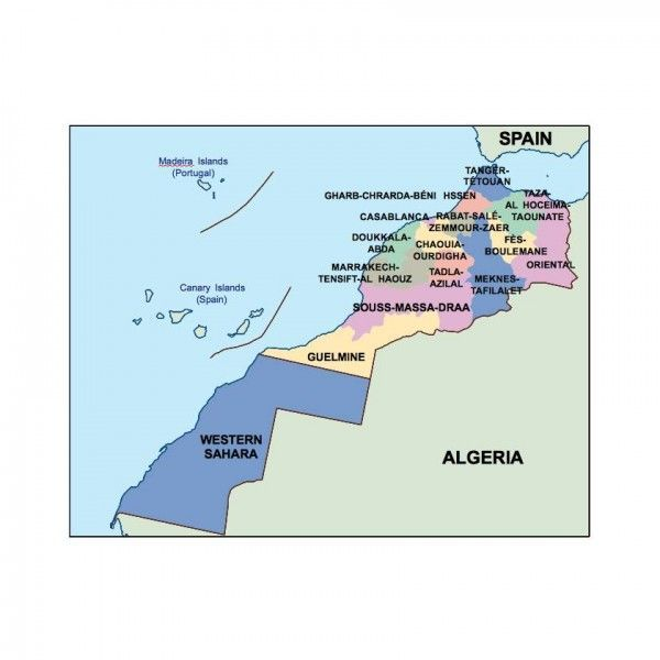 morocco presentation map