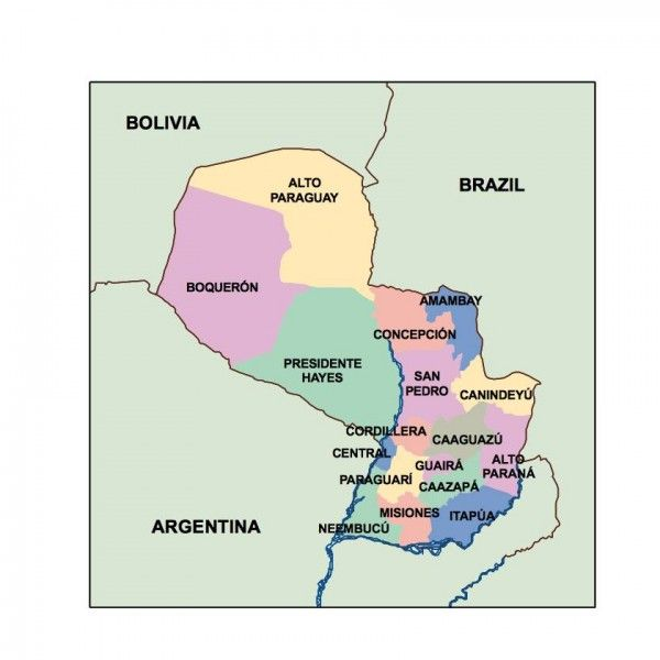 paraguay presentation map