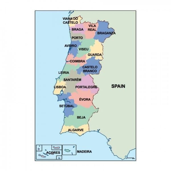 portugal presentation map