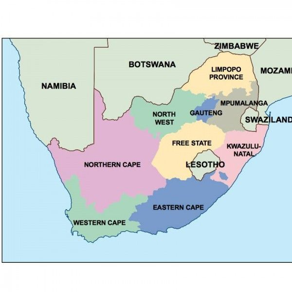 south africa presentation map