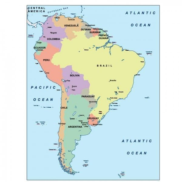 south america presentation map