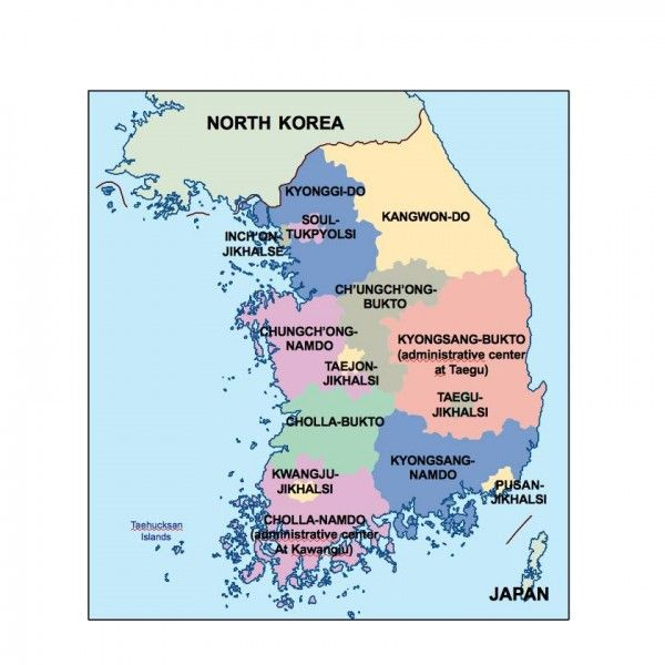 south korea presentation map
