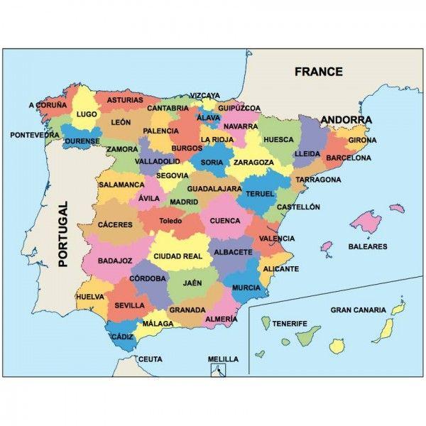 spain presentation map