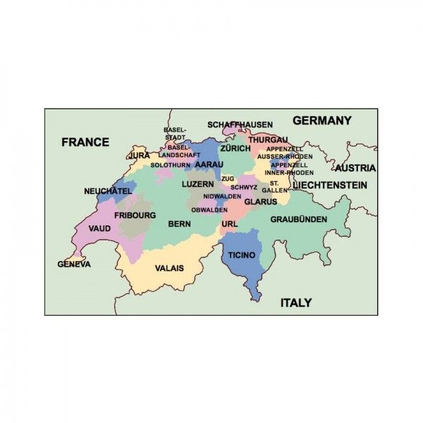 switzerland presentation map