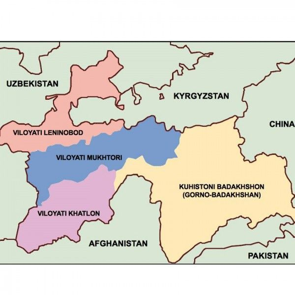tajikistan presentation map