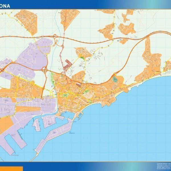 tarragona wall map