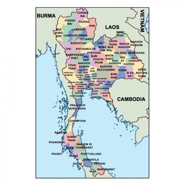 thailand presentation map