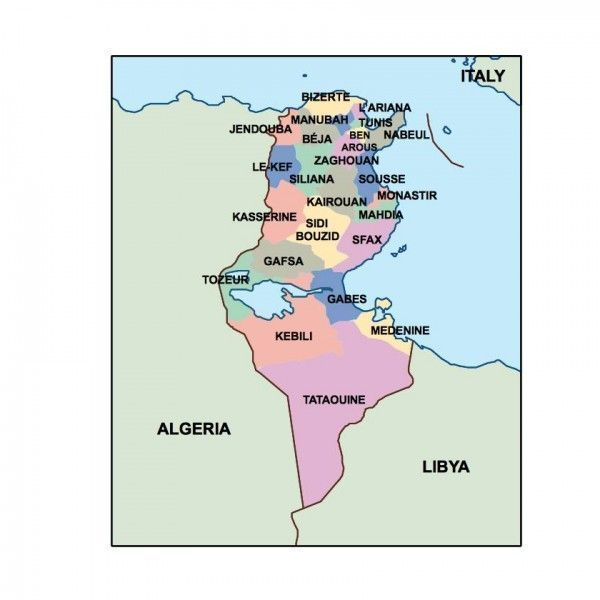 tunisia presentation map