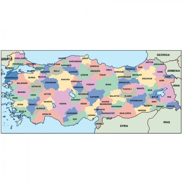turkey presentation map