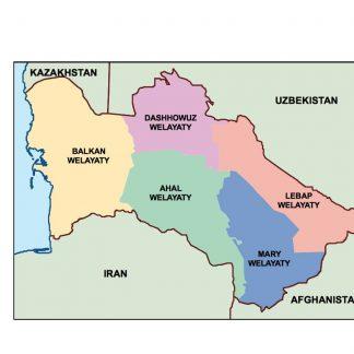 Asia template maps | Digitalmaps co uk
