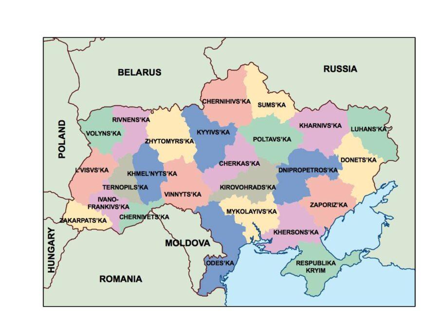 ukraine presentation map