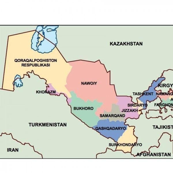 uzbekistan presentation map