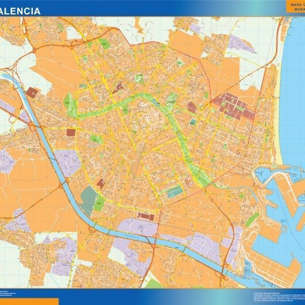 valencia wall map