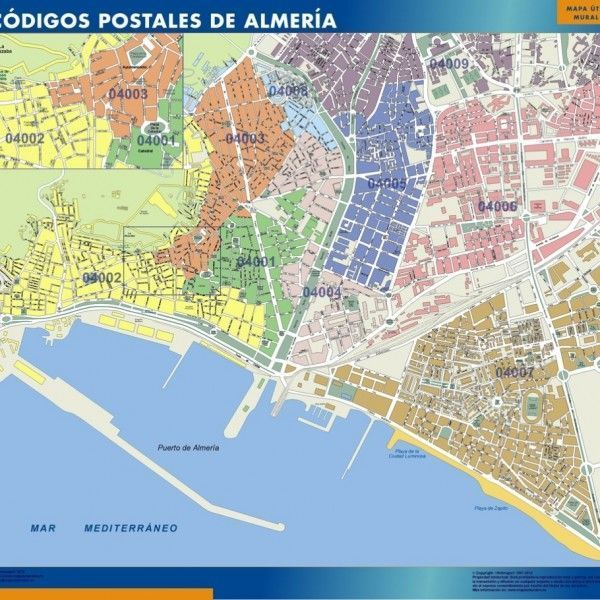 Spain magnetic maps by netmaps vector for Codigos postales madrid capital