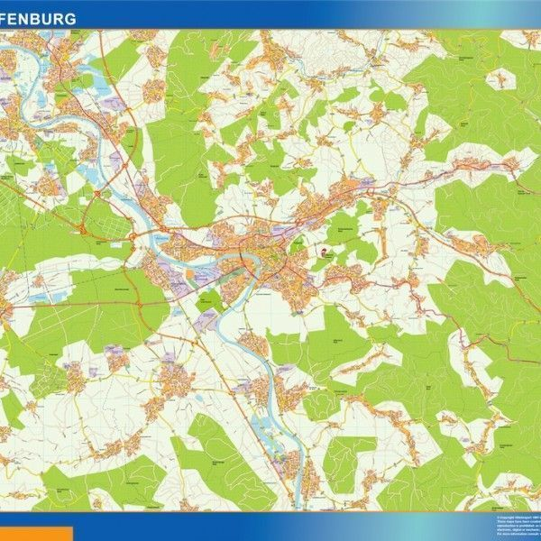 Aschaffenburg Wandkarten