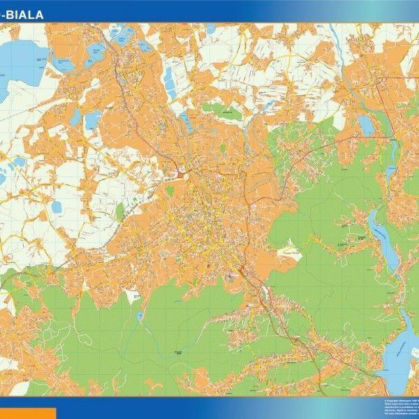Bielsko Biala Mapy ścienne