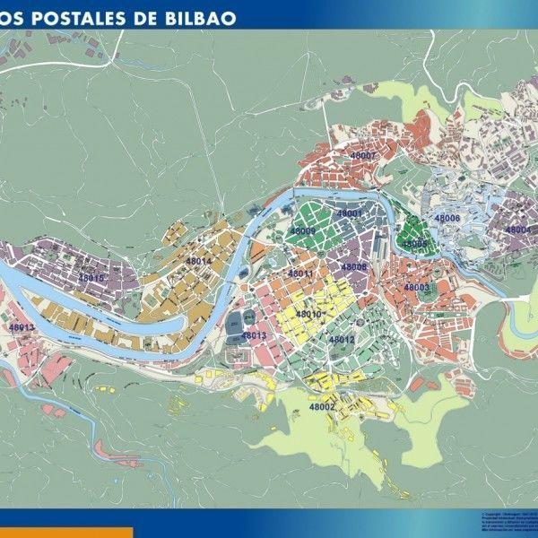 Bilbao Codigos Postales mapa magnetico