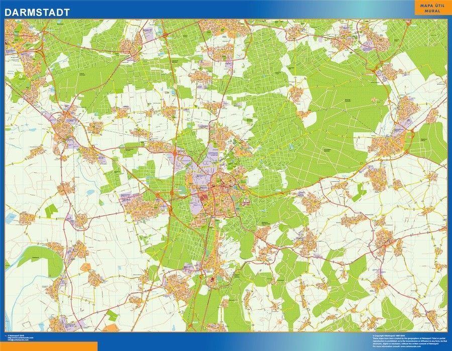 Darmstadt Wandkarten