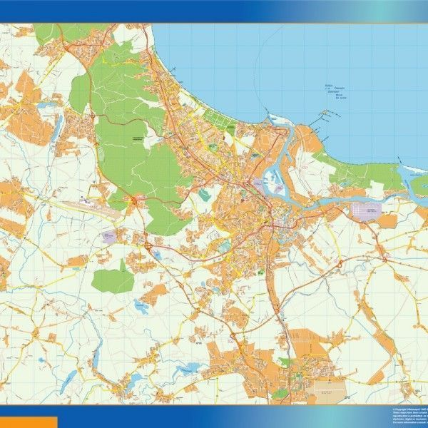 Gdansk Mapy ścienne
