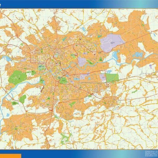Krakow Mapy ścienne