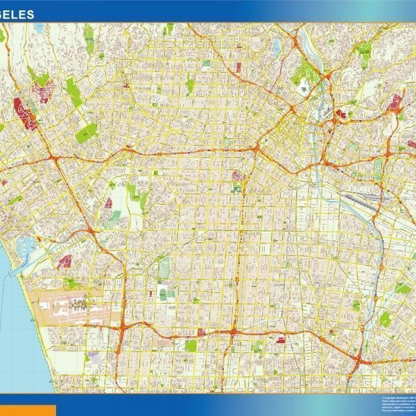 Los Angeles Magnetic Map