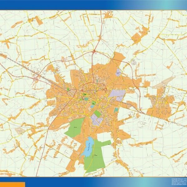 Lublin Mapy ścienne