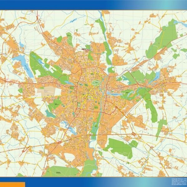 Poznan Mapy ścienne