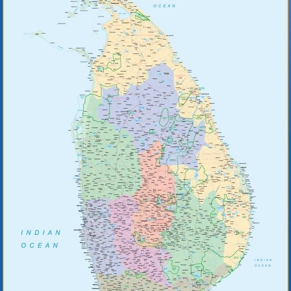 Sri Lanka framed maps