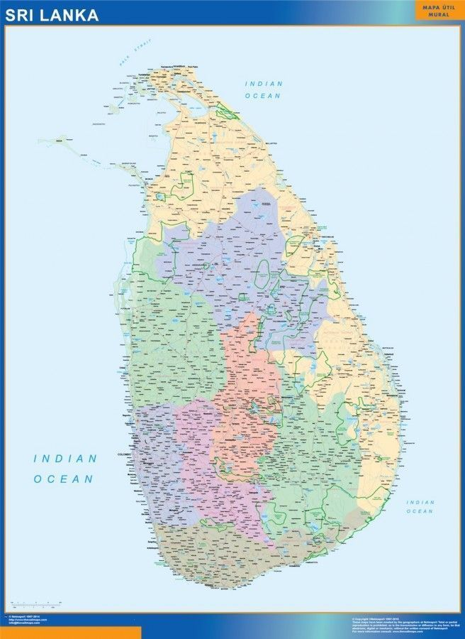 Sri Lanka framed maps