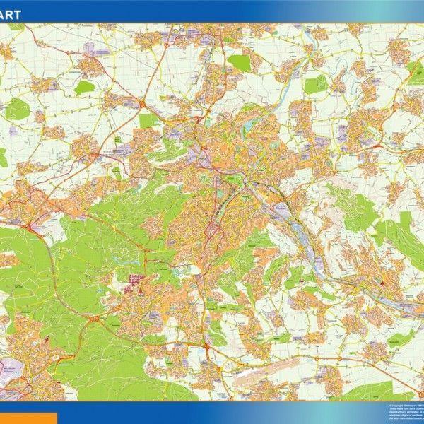Stuttgart Wandkarten
