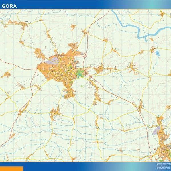 Zielona Gora Mapy ścienne