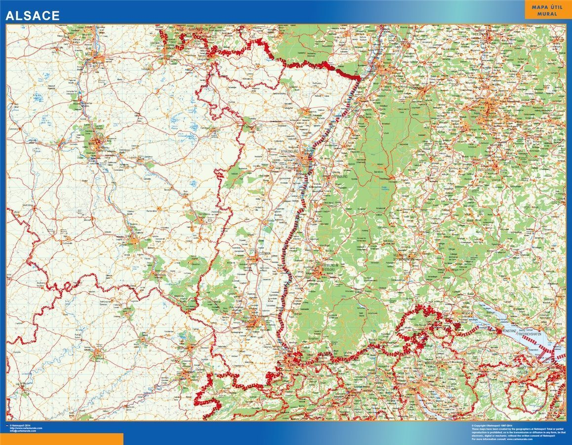 Carte Alsace Vector.Carte Magnetique Alsace