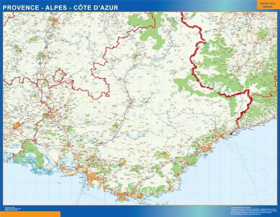 carte magnetique provence alpes cote azur