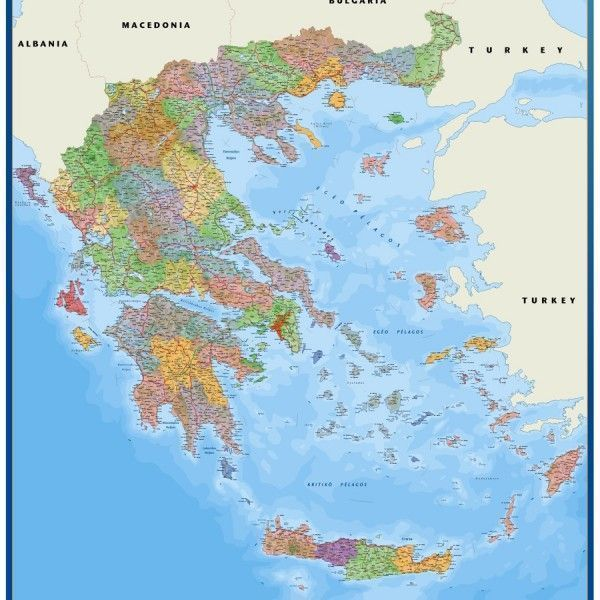 greece framed maps