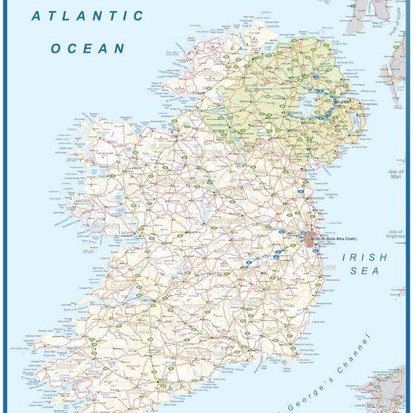 ireland framed maps