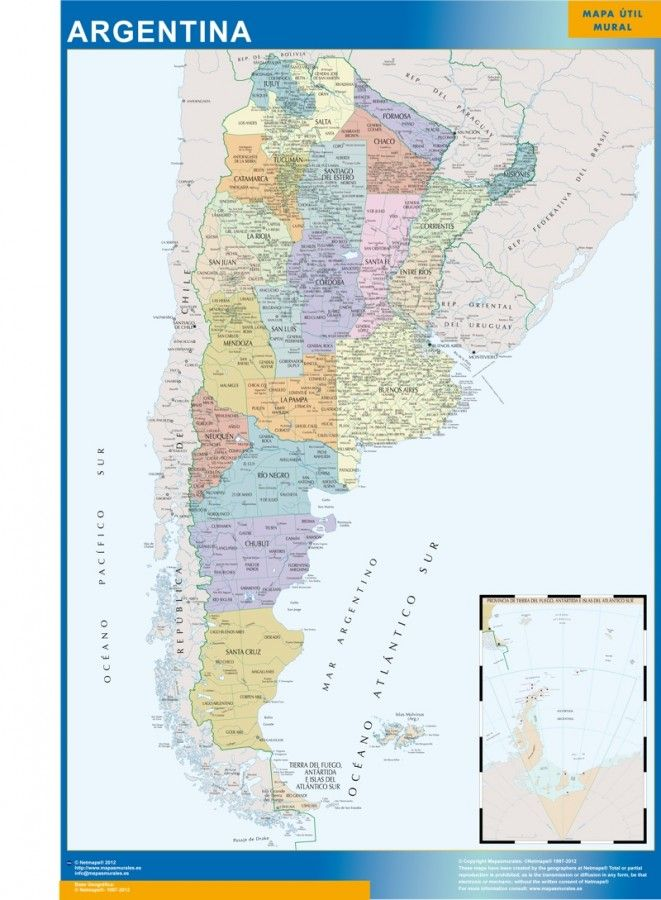 magnetic map argentina