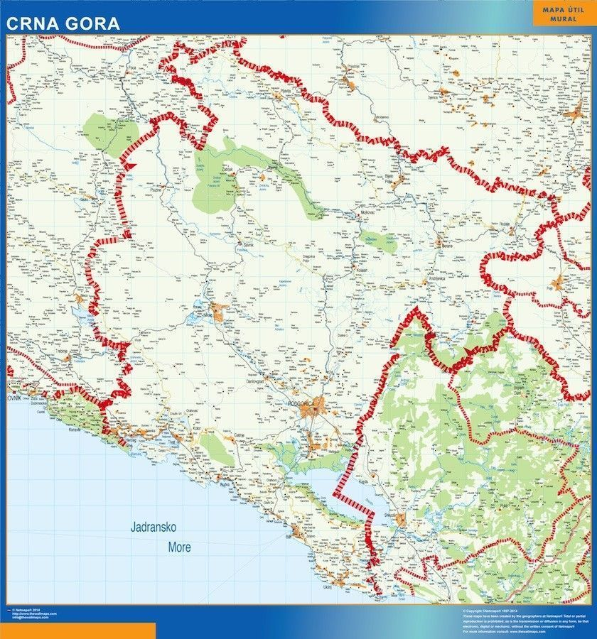 magnetic map montenegro