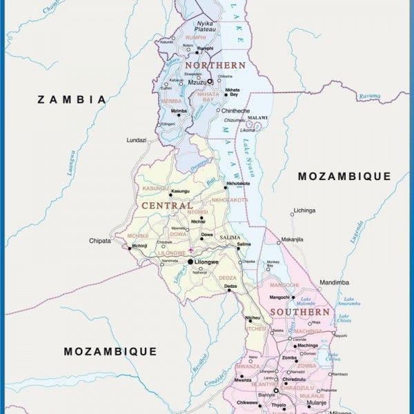 malawi framed maps